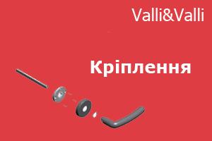 Системи кріплення дверних та віконних ручок Valli&Valli