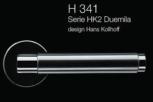 Дверні та віконні ручки Fusital H 341 HK2 Duemila