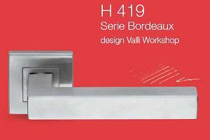 Дверні та віконні ручки Valli&Valli серія H 419 Bordeaux