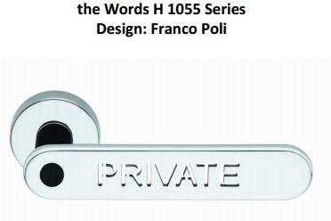 Дверные ручки Valli&Valli серия H 1055 Words