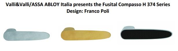 Дверные ручки Fusital серия H 374 Compasso